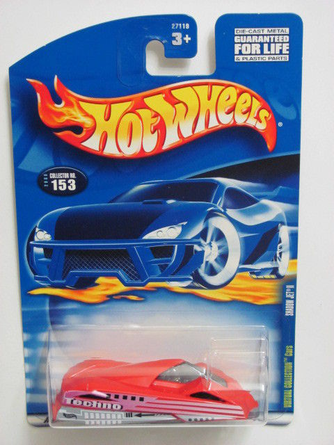 HOT WHEELS 2000 VIRTUAL COLLECTION CARS SHADOW JET II RED #153