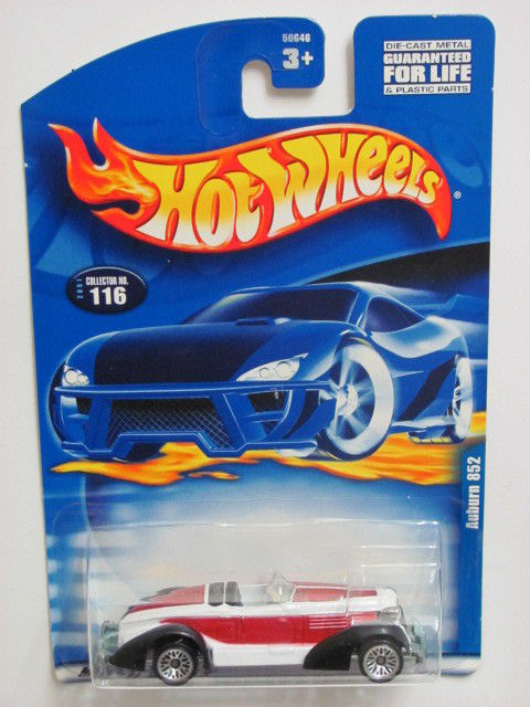 HOT WHEELS 2001 AUBURN 852 COLLETOR #116 WHITE