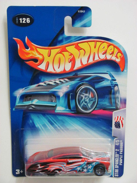 HOT WHEELS 2004 STAR SPANGLED 2 PURPLE PASSION #126 RED