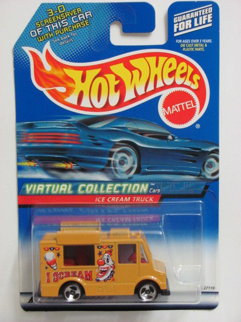 HOT WHEELS 2000 VIRTUAL COLLECTION ICE CREAM TRUCK #144 TAN