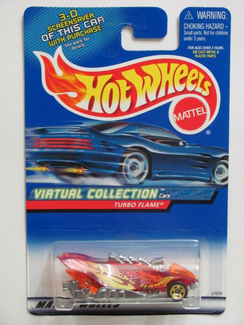 HOT WHEELS 2000 VIRTUAL COLLECTION TURBO FLAME #112 ERROR