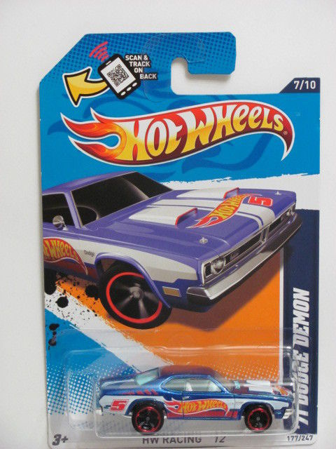 HOT WHEELS 2012 '71 DODGE DEMON #7/10 HW RACING