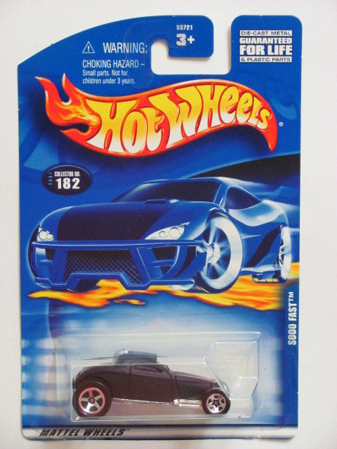 HOT WHEELS 2001 #182 SOOO FAST BLACK