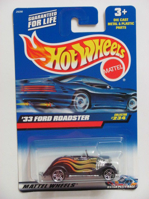 HOT WHEELS 2000 '33 FORD ROADSTER COLLECTOR #234 BLACK