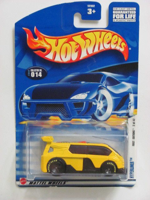 HOT WHEELS 2002 FIRST EDITIONS #014 HYPERLINER YELLOW