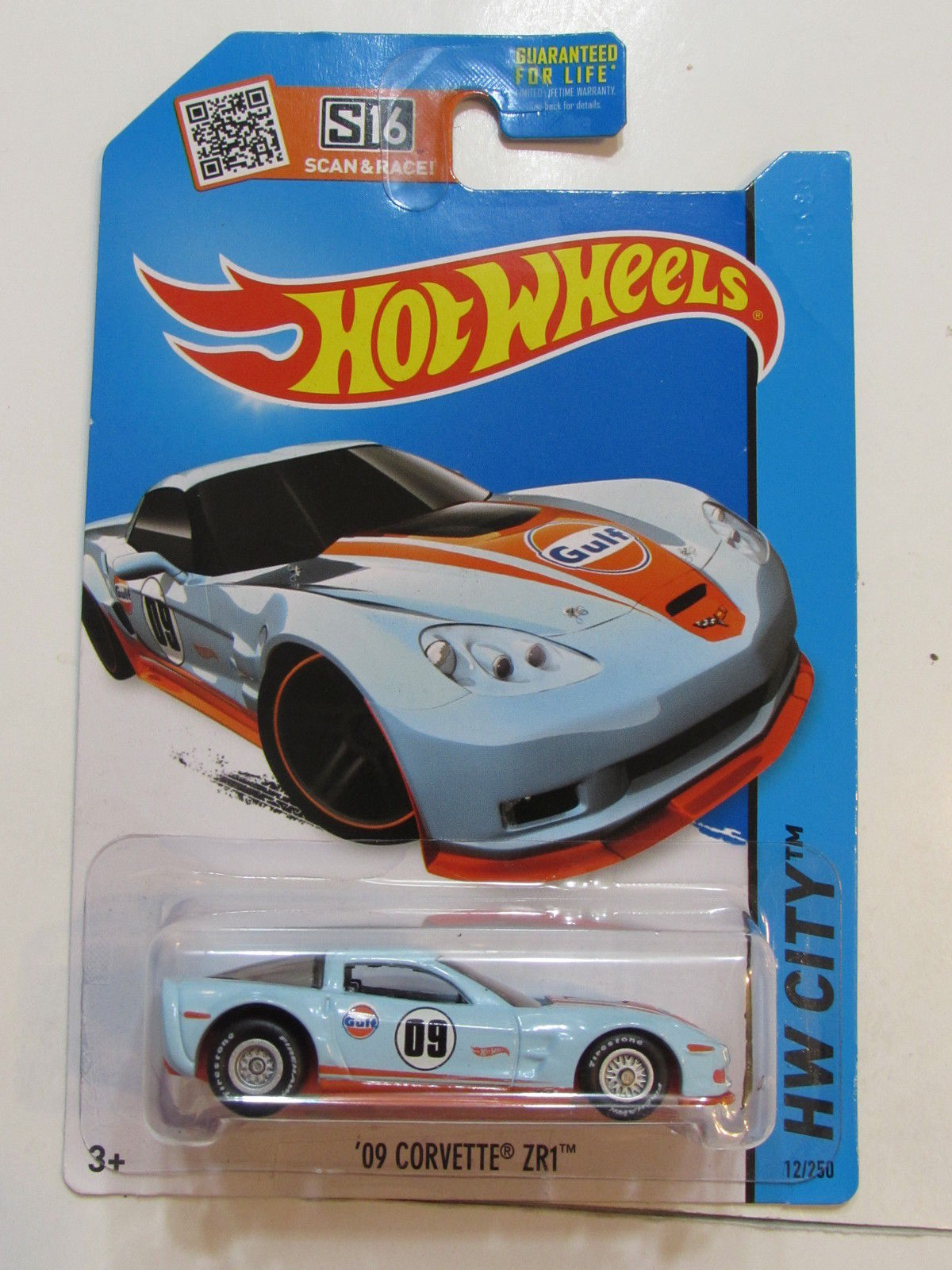 HOT WHEELS 2015 HW CITY '09 CORVETTE ZR1 CUSTOM MADE