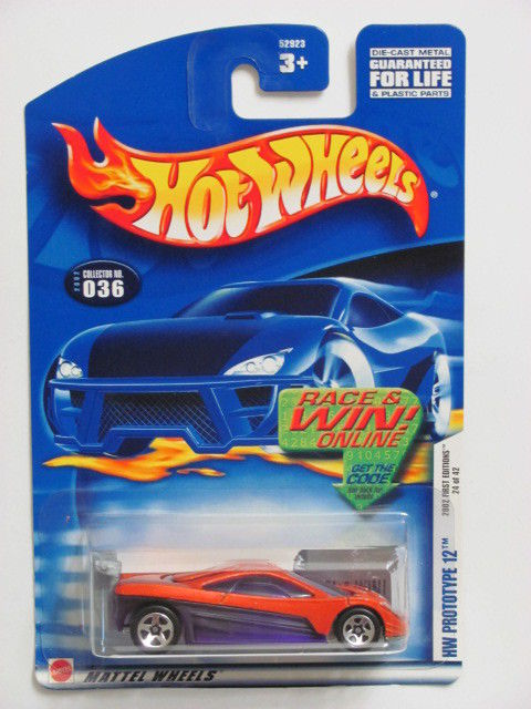 HOT WHEELS 2002 FIRST EDITIONS HW PROTOTYPE 12 ORANGE #036