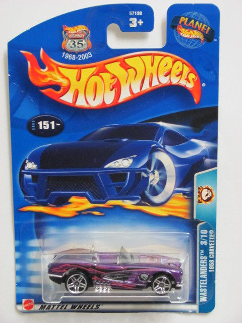 HOT WHEELS 2003 WASTELANDERS 3/10 1958 CORVETTE #151 PURPLE