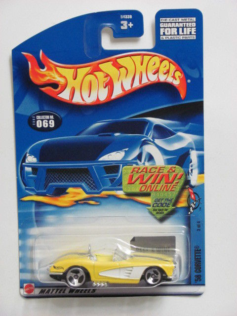 HOT WHEELS 2002 '58 CORVETTE #069 YELLOW