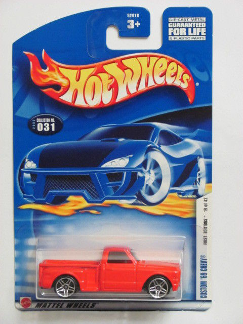 HOT WHEELS 2002 FIRST EDITIONS CUSTOM '69 CHEVY #031