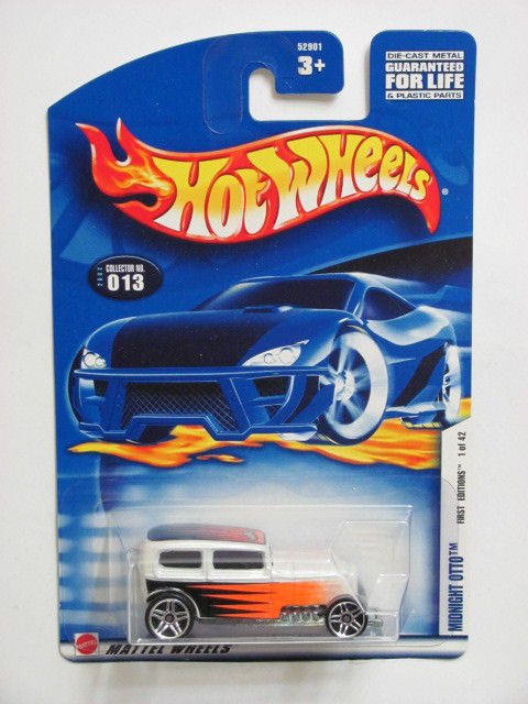 HOT WHEELS 2002 FIRST EDITIONS MIDNIGHT OTTO #013 WHITE