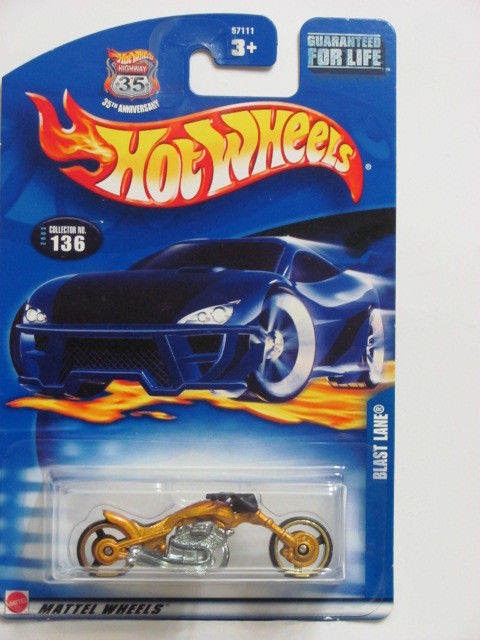 HOT WHEELS 2003 BLAST LANE #136 GOLD
