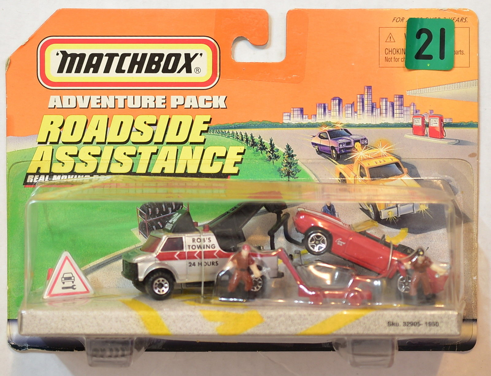 MATCHBOX ROADSIDE ASSISTANCE TOW TRUCK WITH CAMARO SS