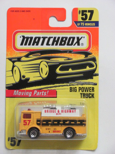 MATCHBOX 1997 BIG POWER TRUCK #57 OF 75 MOVING PARTS