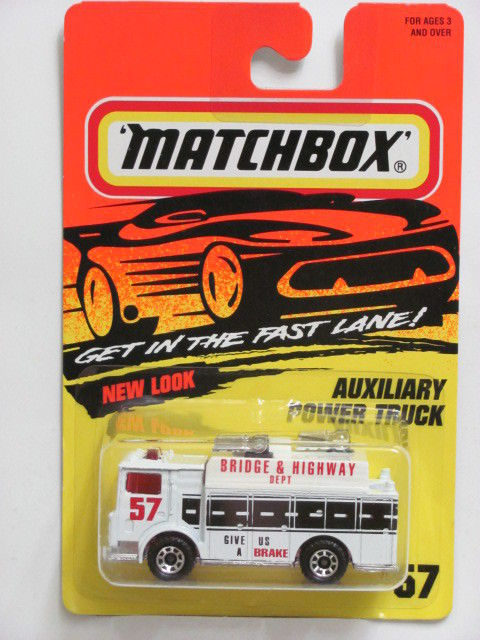 MATCHBOX 1995 #57 AUXILIARY POWER TRUCK - NEW LOOK