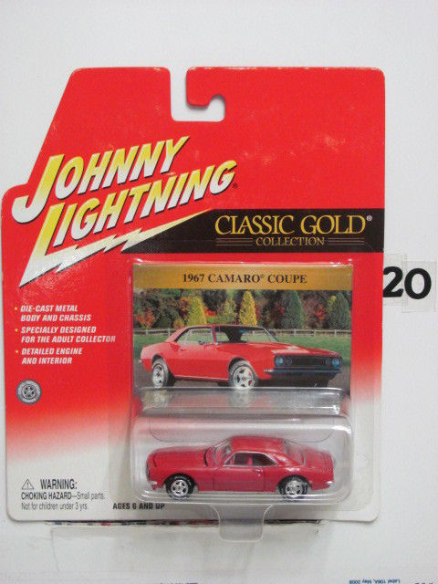 JOHNNY LIGHTNING CLASSIC GOLD 1967 CAMARO COUPE RED