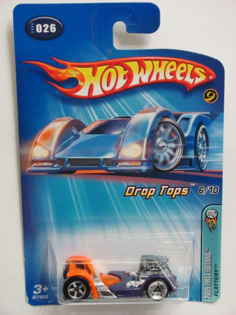HOT WHEELS 2005 FIRST EDITIONS FLATTERY - DROP TOPS #026