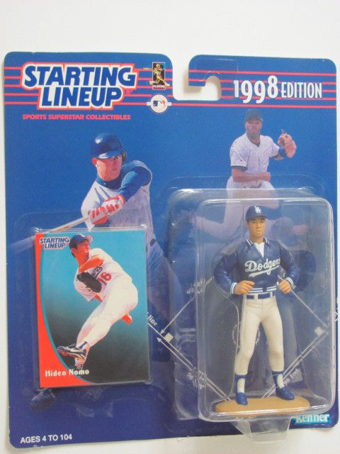STARTING LINEUP 1998 EDITION HIDEO NOMO FIGURE AGES 4-104