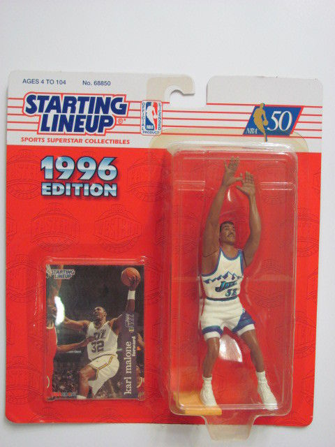 STARTING LINEUP 1996 EDITION UTAH JAZZ - KARL MALONE FIGURE AGES 4-104