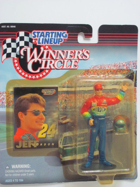 WINNER CIRCLE 1997 STARTING LINEUP JEFF GORDON FIGURE