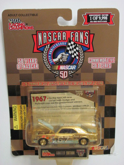 RACING CHAMPIONS NASCAR 50TH ANN. GOLD ISSUE # 19 '68 CHEVY CAMARO