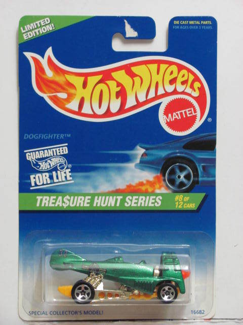 HOT WHEELS 1997 TREASURE HUNT #8/12 DOGFIGHTER GREEN