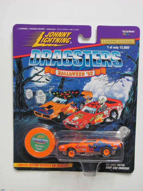 JOHNNY LIGHTNING DRAGSTERS SCREAM TEAM - PLAYING MANTIS ORANGE
