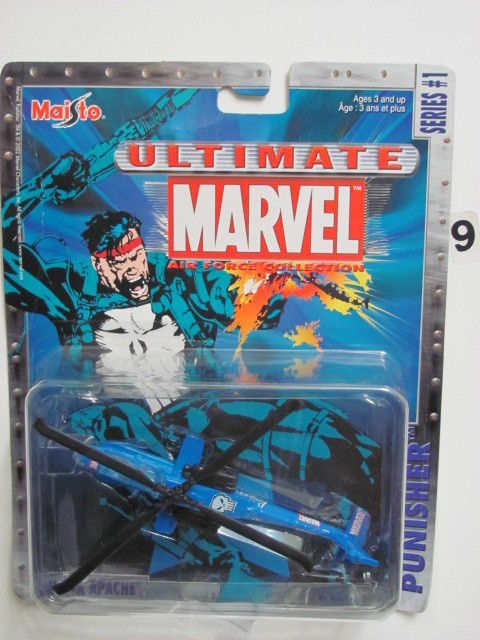 MAISTO MARVEL ULTIMATE SERIES #1 PUNISHHER AH-64A APACHE
