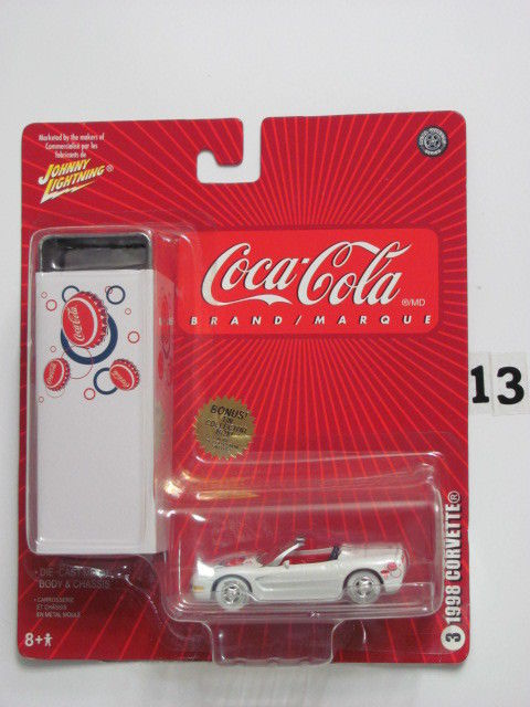 COCA COLA TIN COLLECTION JOHNNY WHITE LIGHTNING - 1998 CORVETTE #3