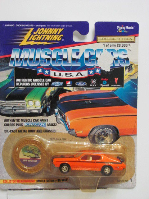JOHNNY LIGHTNING MUSCLE CARS U.S.A 1970 BUICK GSX ORANGE