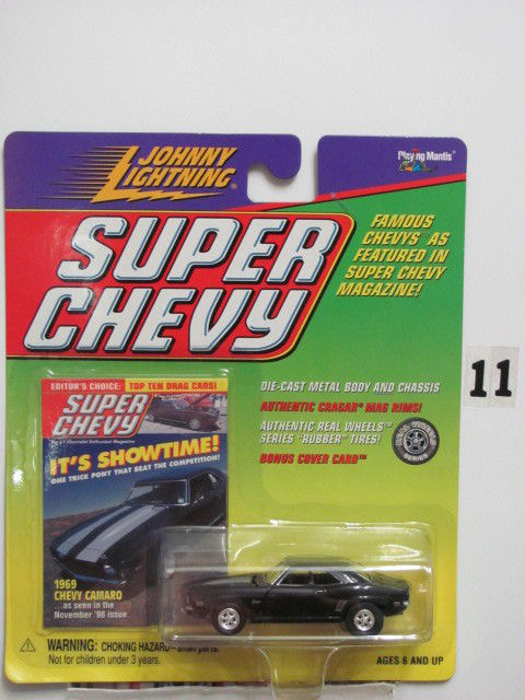 JOHNNY LIGHTNING SUPER CHEVY 1969 CHEVY CAMARO IT'S SHOWTIME
