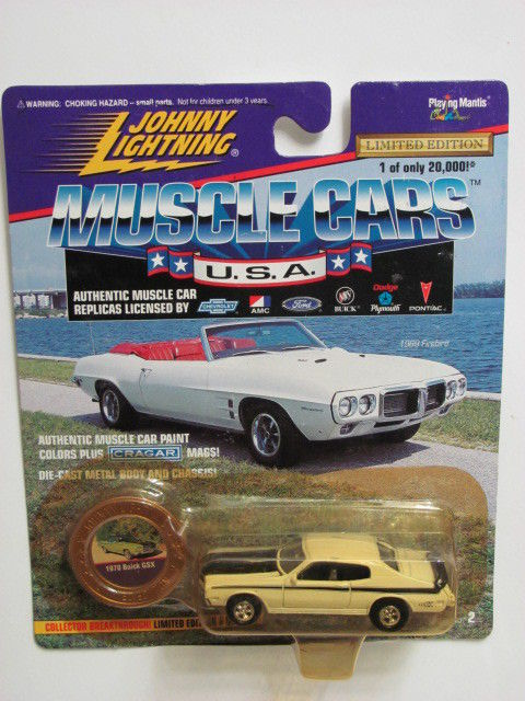 JOHNNY LIGHTNING MUSCLE CARS U.S.A 1970 BUICK GSX WHITE