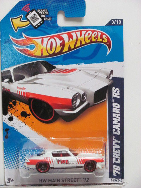 HOT WHEELS 2012 HW MAIN STREET '70 CHEVY CAMARO RS