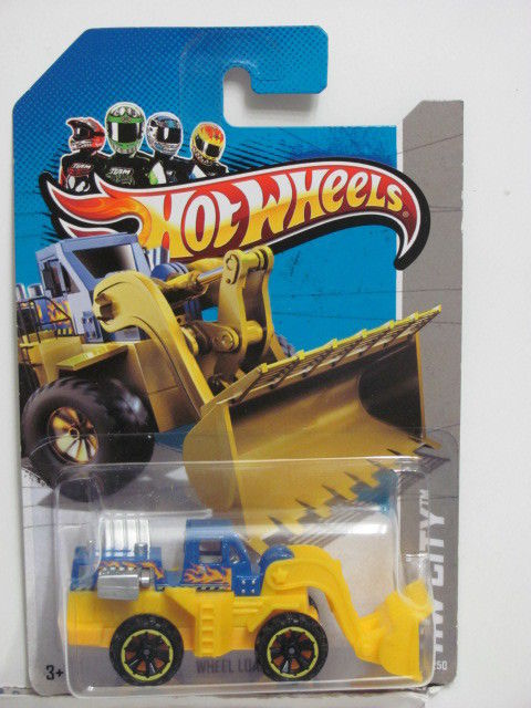 HOT WHEELS 2013 HW CITY WHEEL LOADER - HW CITY WORKS E+