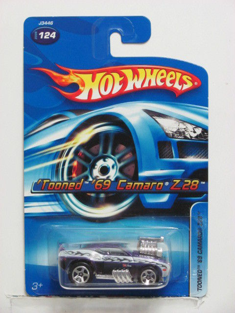 HOT WHEELS 2006 'TOONED '69 CAMARO Z28 #124 PURPLE