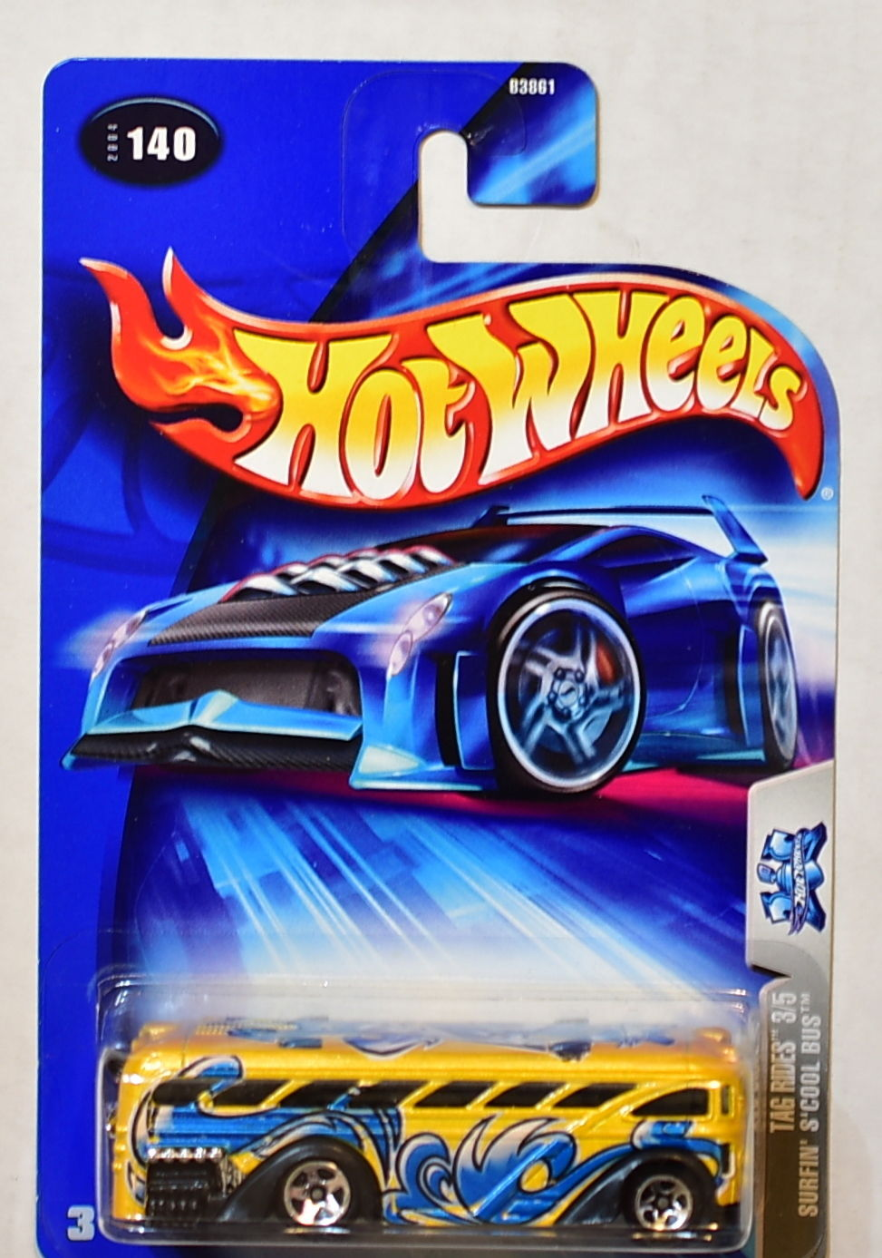 HOT WHEELS 2004 TAG RIDES SURFIN' S'COOL ( SCHOOL ) BUS #140