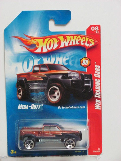 HOT WHEELS 2008 WEB TRADING CARS MEGA-DUTY #08/24 BROWN