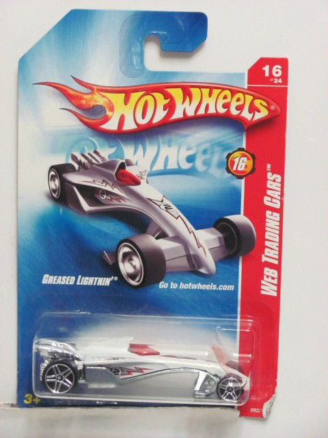 HOT WHEELS 2008 WEB TRADING CARS GREASED LIGHTNIN' #16/24