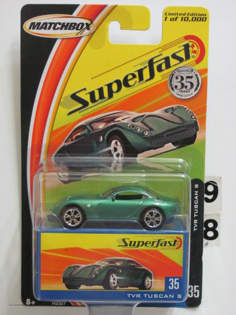 MATCHBOX 2004 35YRS SUPERFAST TVR TUSCAN S #35