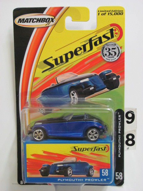 MATCHBOX 2004 35YRS SUPERFAST PLYMOUTH PROWLER #58