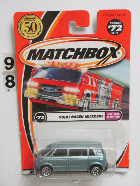 "MATCHBOX 2001 #72 OF 75 VOLKSWAGEN MICROBUS KID""S CARS OF THE YEAR"