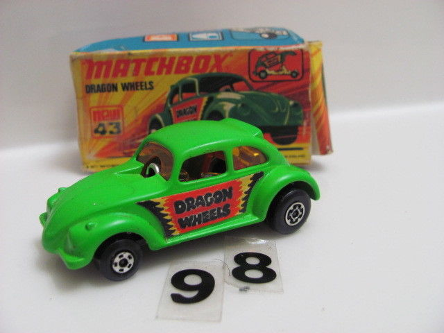 MATCHBOX 1972 LESNEY SUPERFAST #43 DRAGON WHEELS W/MATCHBOX E+