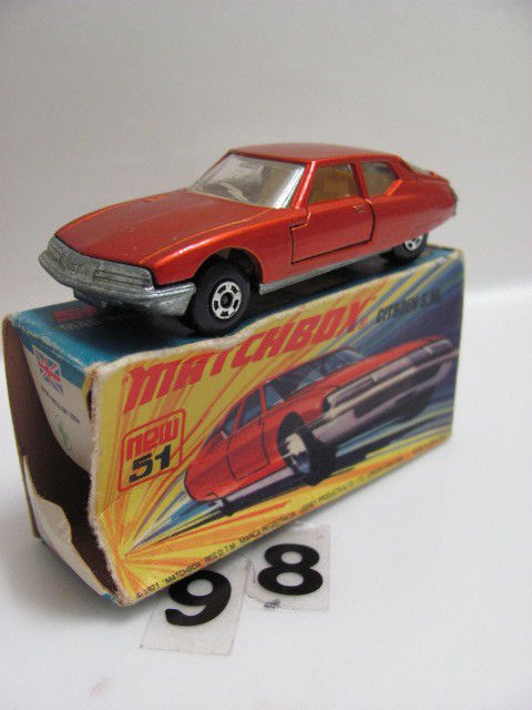 MATCHBOX 1971 LESNEY SUPERFAST #51 CTROEN S. M. W/MATCHBOX