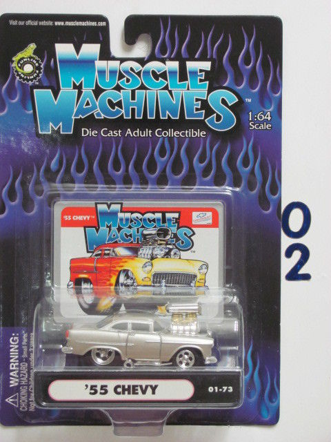 MUSCLE MACHINES '57 CHEVY C02-13 1:64 SCALE
