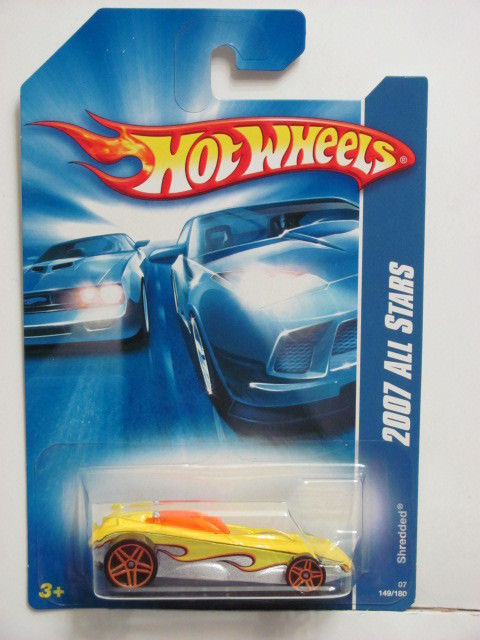 HOT WHEELS 2007 ALL STARS SHREDDED YELLOW