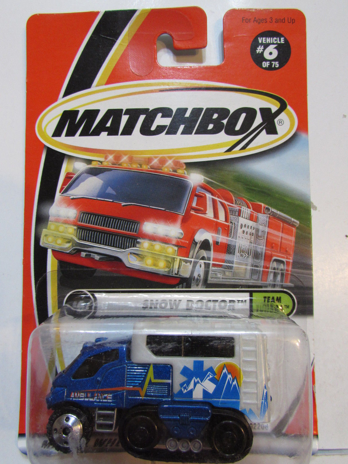 MATCHBOX 2001 #6 OF 75 SNOW DOCTOR - TEAM TUNDRA BLUE