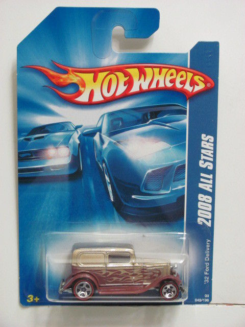 HOT WHEELS 2008 ALL STARS '32 FORD DELIVERY GOLD E+