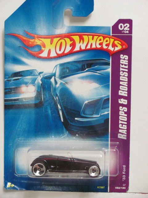 HOT WHEELS 2007 RAGTOPS & ROADSTERS '33 FORD #02/04
