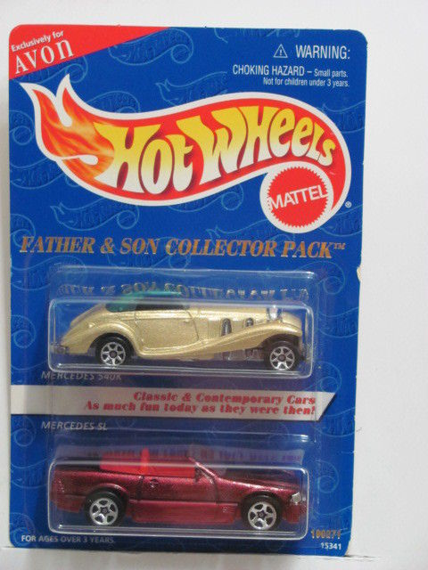HOT WHEELS FATHER & SON COLLECTOR 2 CAR PACK MERCEDES 540K - MERCEDES SL