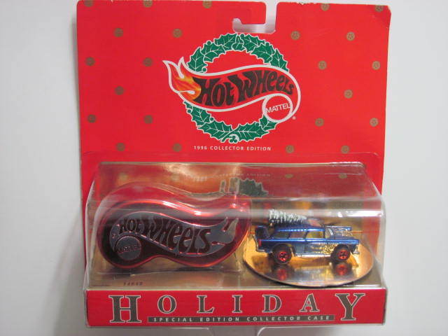 HOT WHEELS 1996 HOLIDAY COLLECTION CASE NOMAD W/ CHRISTMAS TREE